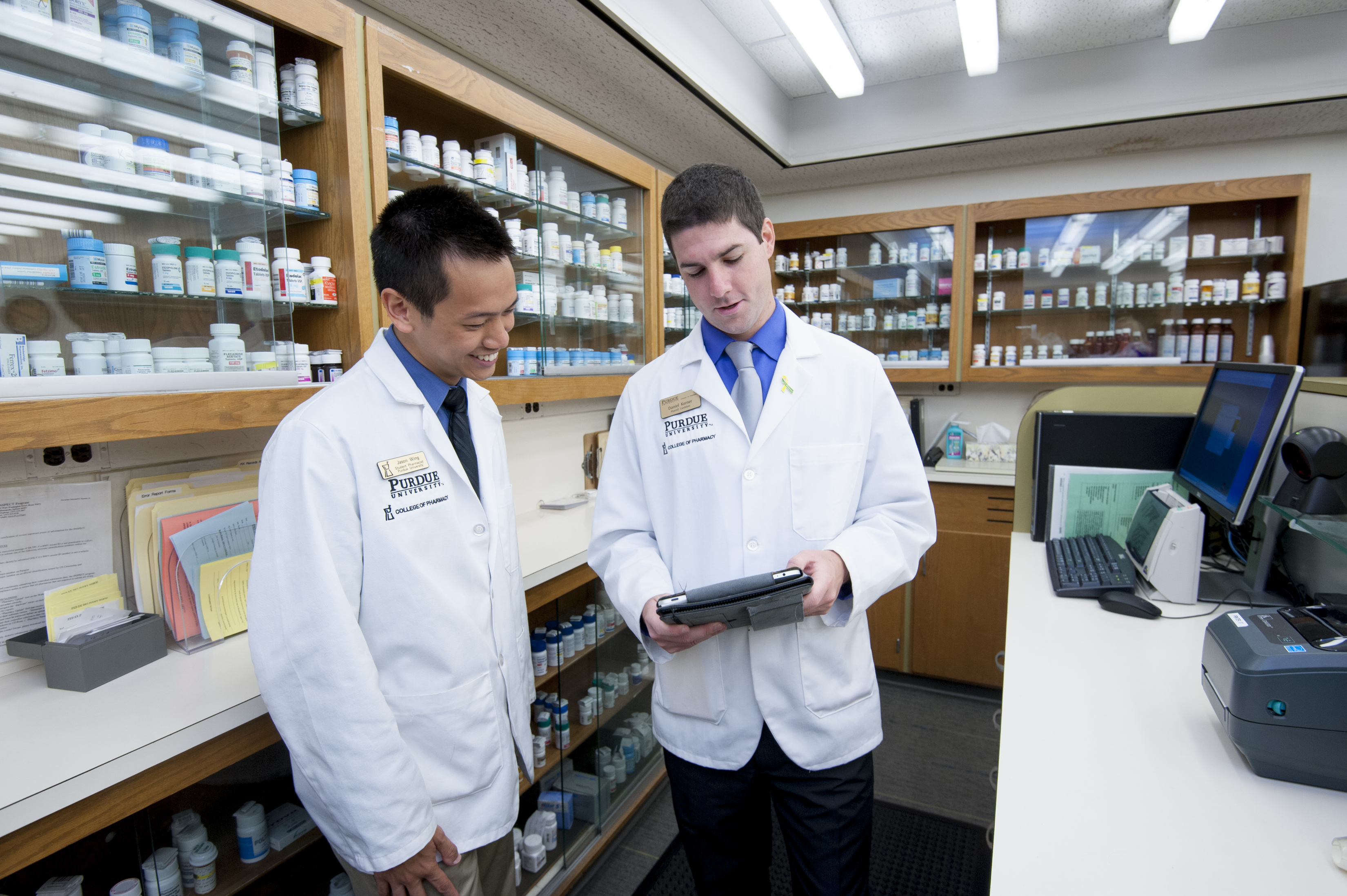 Photo of Students in the Pharmacy