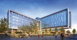 Artist's conception of Eskenazi hospital