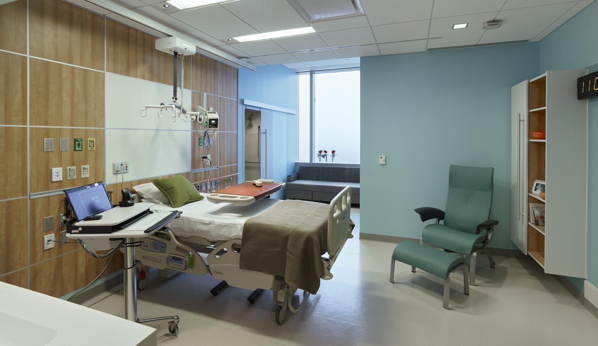 interior hospital patient room